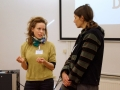 Katharina Frucht, the author of the film Coffee Talks, Sarah Lunaček, moderator of discussion