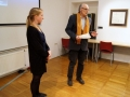 Halla Mia Olafsdottir, the author of the film Books with Remulade, Naško Križnar, moderator of discussion