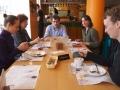 After the lunch: Valentina Cvjetkovič, Nadja Valentinčič Furlan, Daniel Huhn, Orsolya Veraart, Saša Roškar